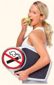 dejar de fumar sin engordar- mujer comiendo