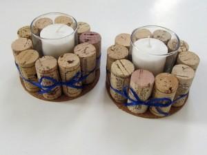 ideas originales con corchos de botellas- centro de mesa