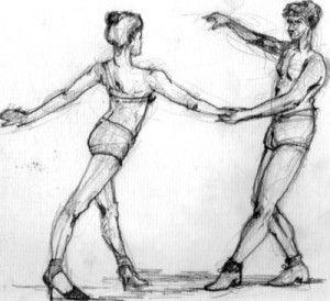 dale ritmo a tu vida- dibujo bailando