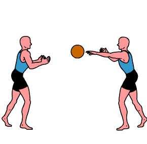 entrena en pareja-balon medicinal